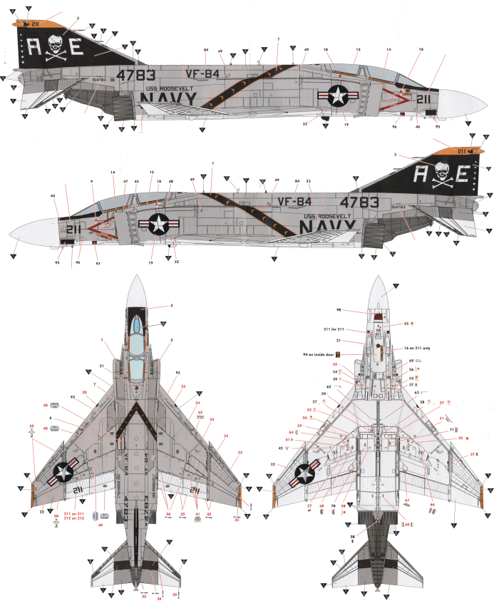 McDonnell Douglas F-4B/J/N Phantom II High Visibility