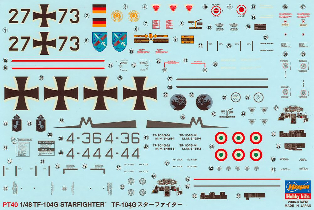 Hasegawa 07240 1 48 Lockheed TF 104G Starfighter Kit First