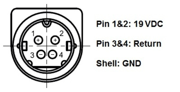 What is the correct pin out for Cybernet power s
