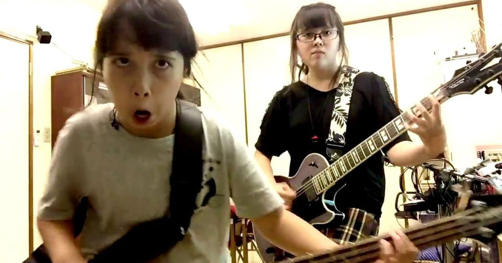Watching these young sisters cover rock songs will make your day