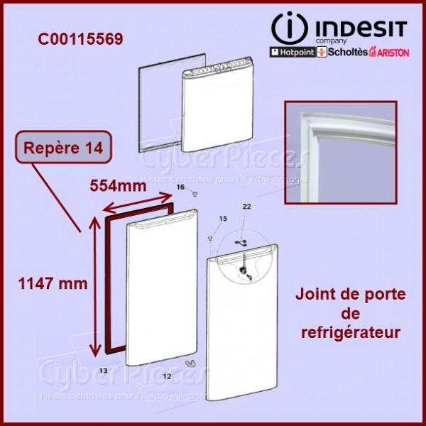 joint de porte refrigerateur c00115569