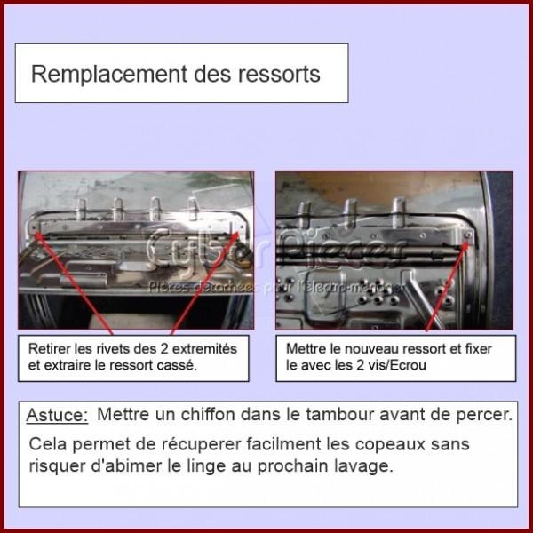Kit Ressort de Portillons 210mm 481209498005 pour Machine
