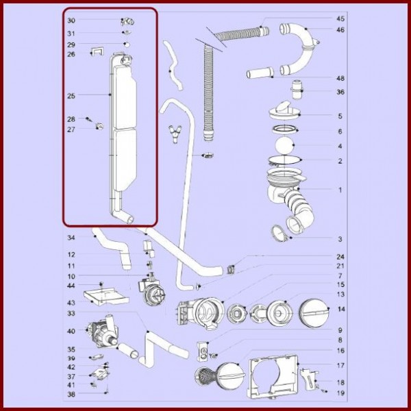 kitchen aid blenders what to use clean cabinets anti retour bloc miele 6044860 pour machine a laver lavage ...