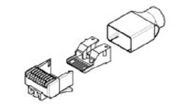 TE Connectivity Plug Modular de 8 Posiciones, Cat6 5