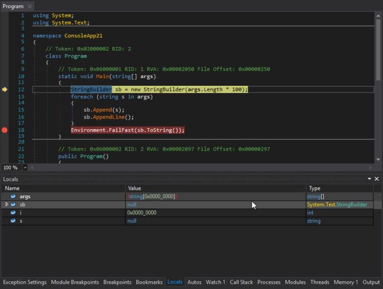 .NET Debugger