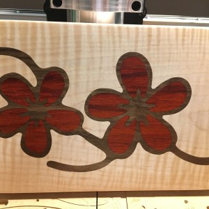 Two Color Inlay Cutting Board
