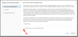 VCSA Update End User License Agreement