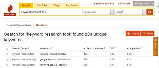 Keyword Tool.io