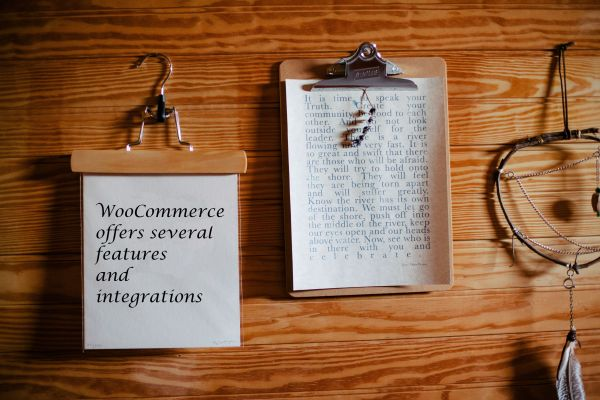 WooCommerce offers Features and Integrations.