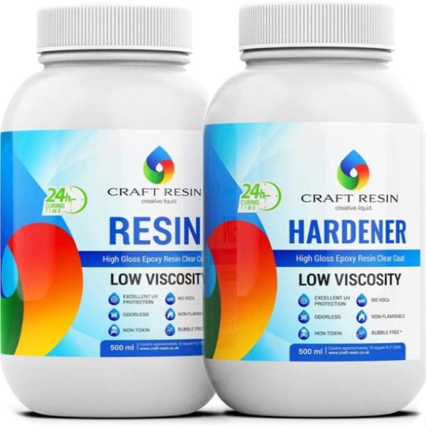 Clear Epoxy Resin 1L Starter Kit Art Resin & Hardener