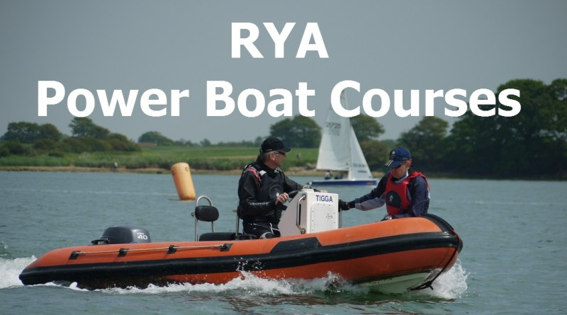 RYA Powerboat Level 2 Courses 2019
