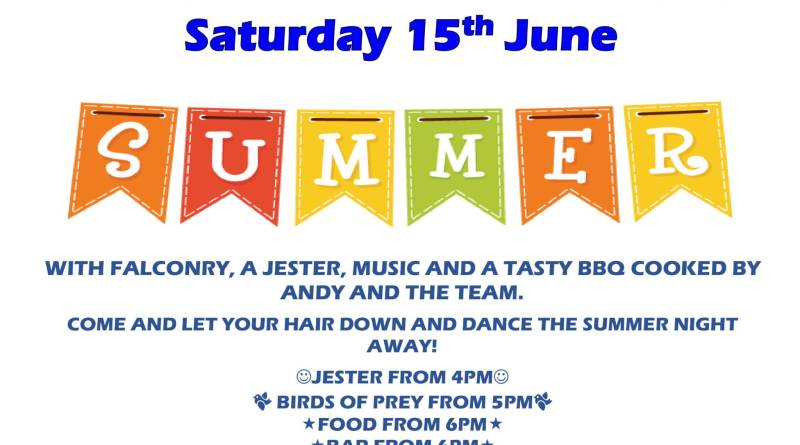 Mid-Summer Party on Saturday 15th June