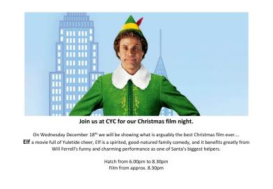 Christmas Movie – Elf – on Wednesday 18th December