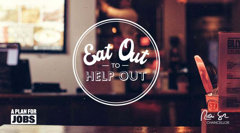 Eat Out to Help Out : Monday – Wednesday through August