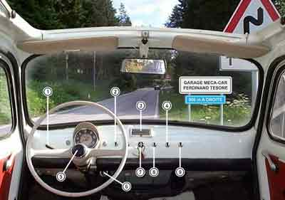 Fiat 500 ancienne  vendre  cyclades elec