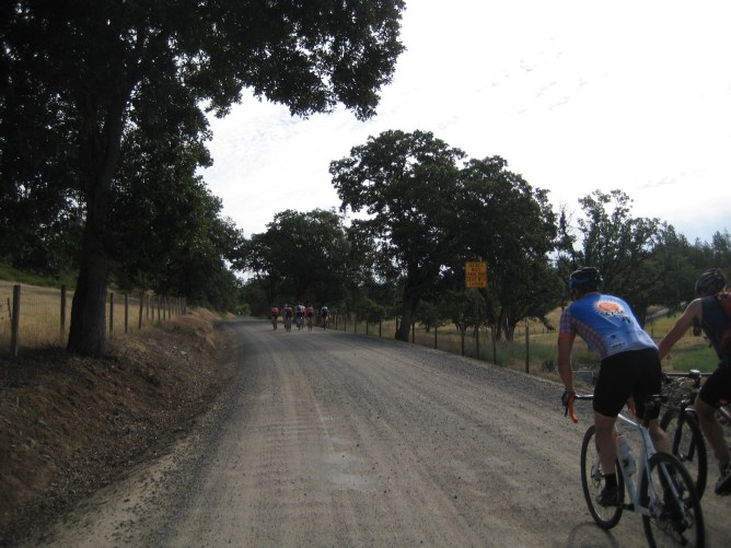 Taking off up Obenchain Road.