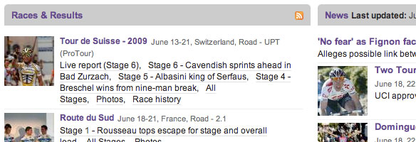 Cyclingnews.com Typography