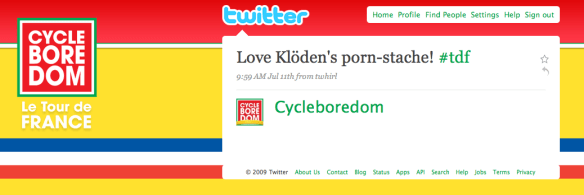 Cycleboredom Twitter