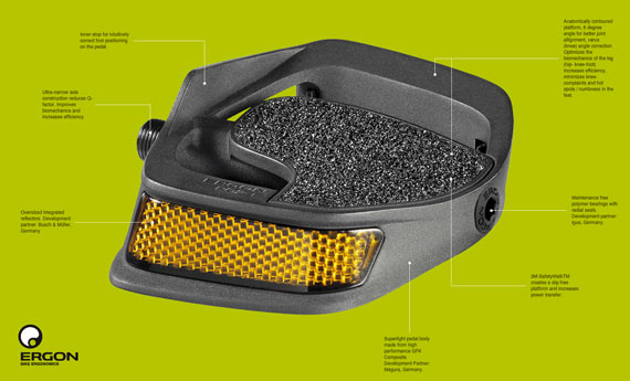Cycleboredom   What I'm Riding: Ergon PC2 Pedals - Pedal Details