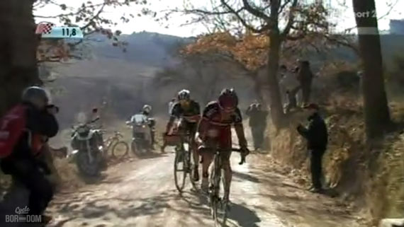Cycleboredom | Screencap Recap: Montepaschi Strade Bianche - Fabs Attack