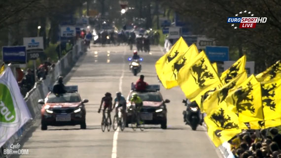 Cycleboredom | Screencap Recap: Ronde van Vlaanderen - Giraffe In The Front