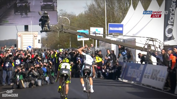 Cycleboredom | Screencap Recap: Ronde van Vlaanderen - Winning From The Rear