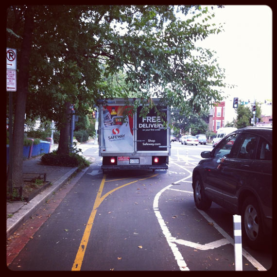 Cycleboredom | Return To #BikeDC - Safeway Cycle Track Truck