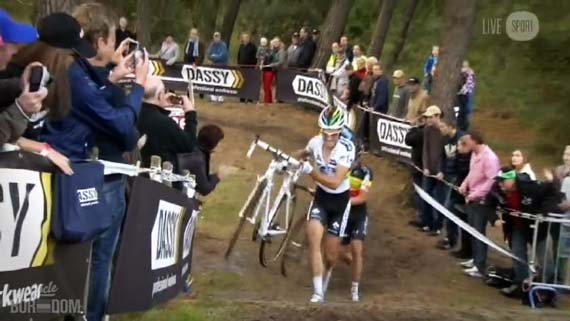 Cycleboredom | Screencap Recap: 2012 Cyclocross Bosduin Kalmthout - Albert Hits The Gas