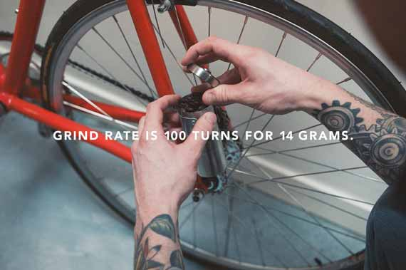 Gear Grinder Fixie Mounted Coffee Grinder