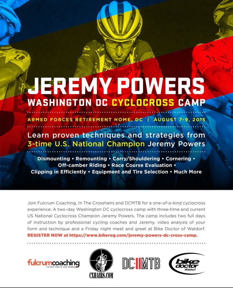 Jeremy Powers Washington DC Cyclocross Camp