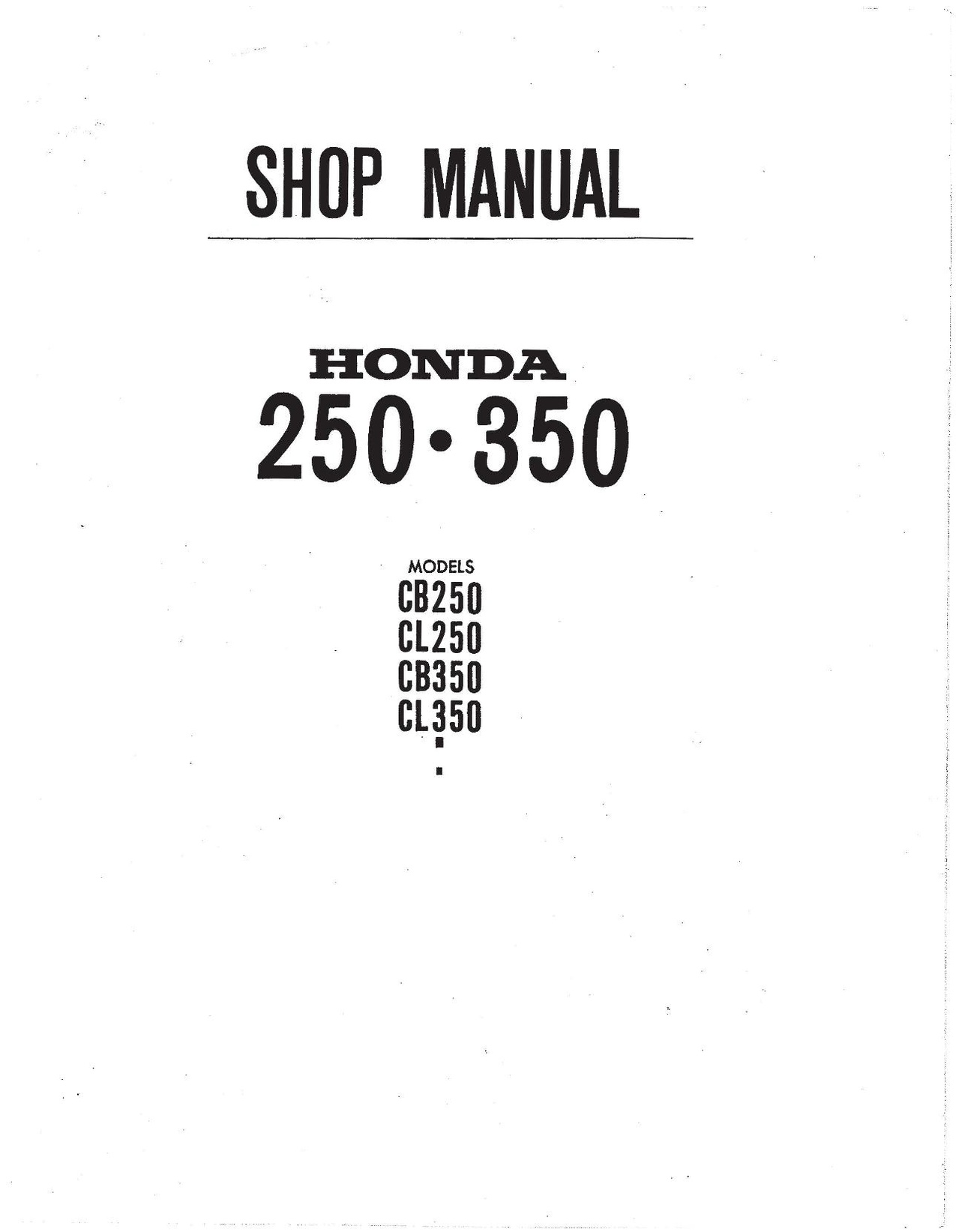 File:Honda CB250 CL350 SL350 CB350 Factory Service Manual