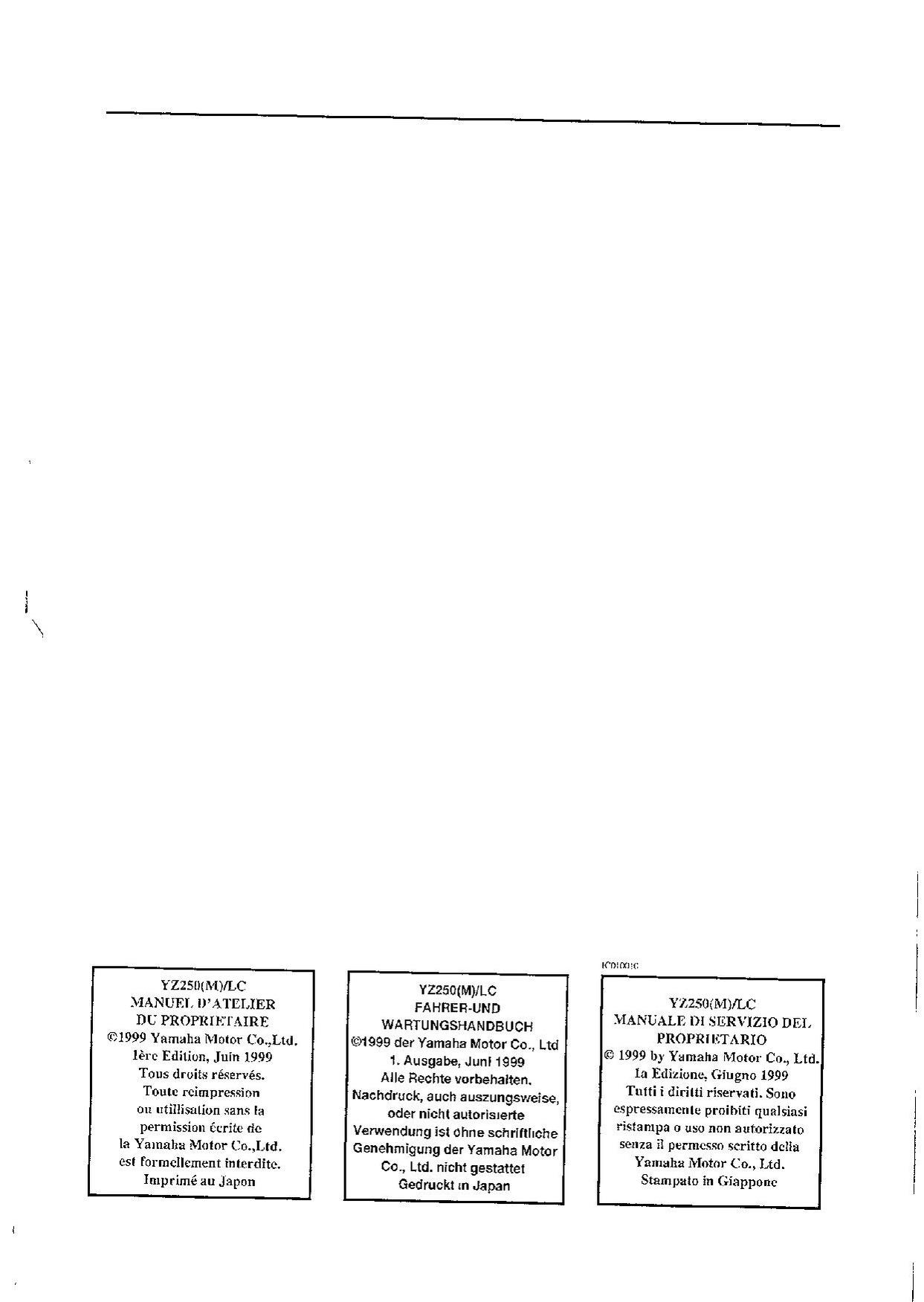 Honda Cbr600F4 1999 2000 Workshop Repair Service Manual