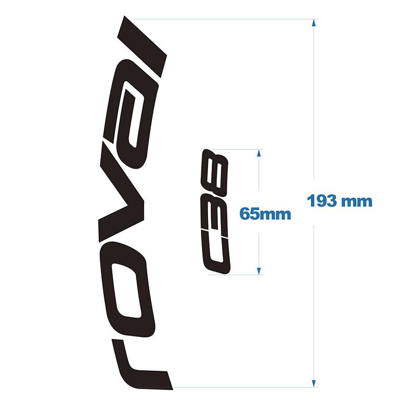 Two Wheel Sticker set for Roval C38 Disc Brake Road Bike