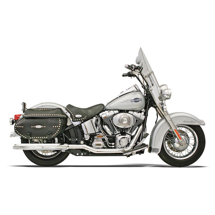bassani power curve true dual crossover head pipes for harley softail 2007 2017
