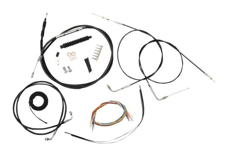 LA Choppers Handlebar Cable Brake Line And Wire Kit For