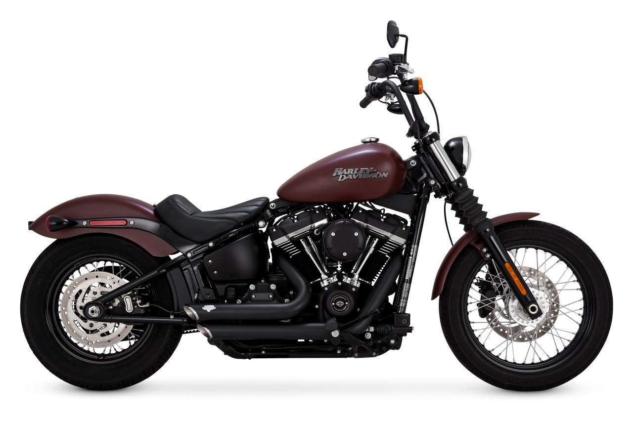 vance hines shortshots staggered exhaust for harley softail 2018 2021