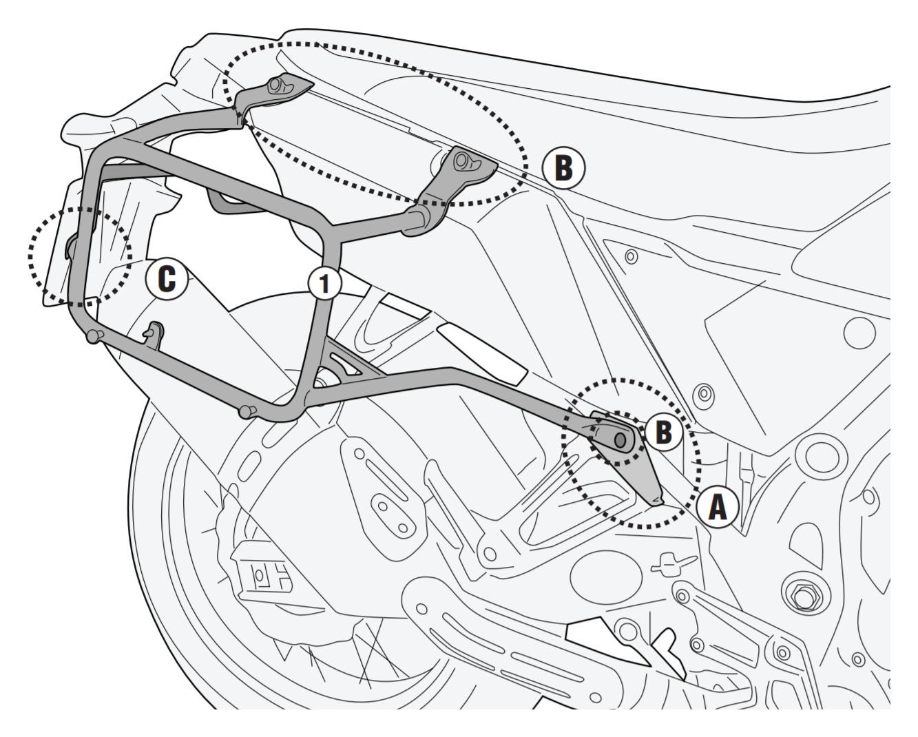 Givi PLO2145N PL One-Fit Saddlebag / Side Case Racks