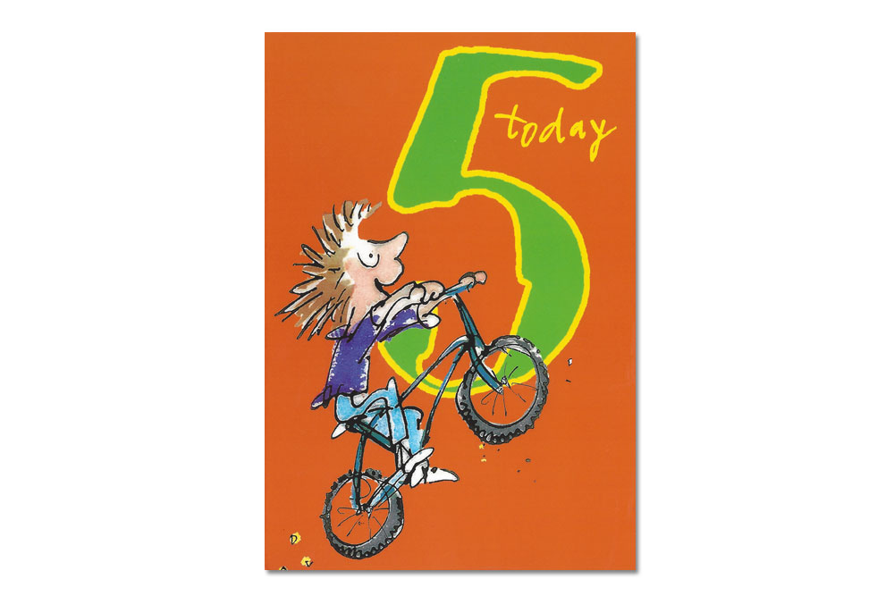 Happy 5th Birthday Bicycle Greeting Card CycleMiles