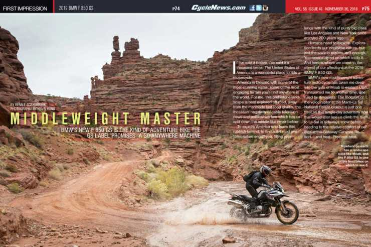 BMW's new F 850 GS is the kind of adventure bike the GS label promises—a true go anywhere machine.