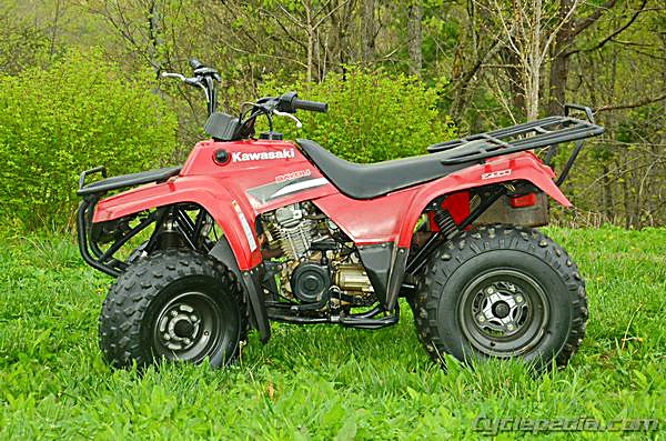 1995 kawasaki bayou 300 wiring diagram kc lights 220 250 klf220 klf250 service manual - cyclepedia