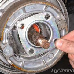 Kawasaki Klf220 Wiring Diagram Eye Lens Replacement Bayou 220 250 Klf250 Service Manual Cyclepedia Rear Brake