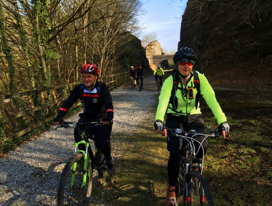 Riding the Monsal Trail in Derbyshire
