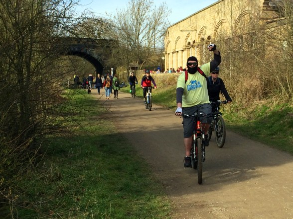 Paul winning the Monsal Trail