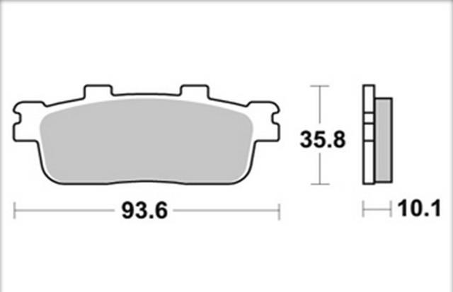 Plaquette de frein avant SYM 125