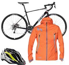 A bike and accessories