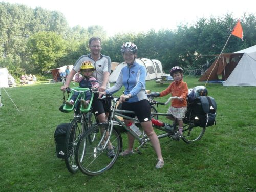 family cycling holiday in Holland - riding bikes with the kids