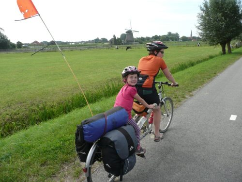 Family cycling holiday to Holland with the kids using a tandem