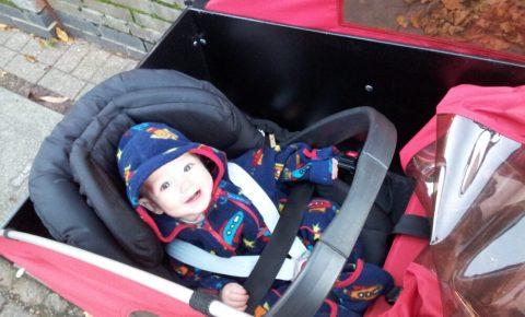 Photo of boy in Christiania cargo bike