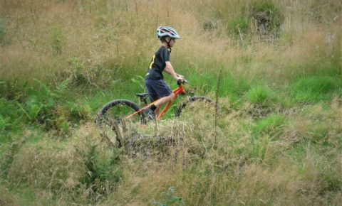 Youth mountain biking in North Wales