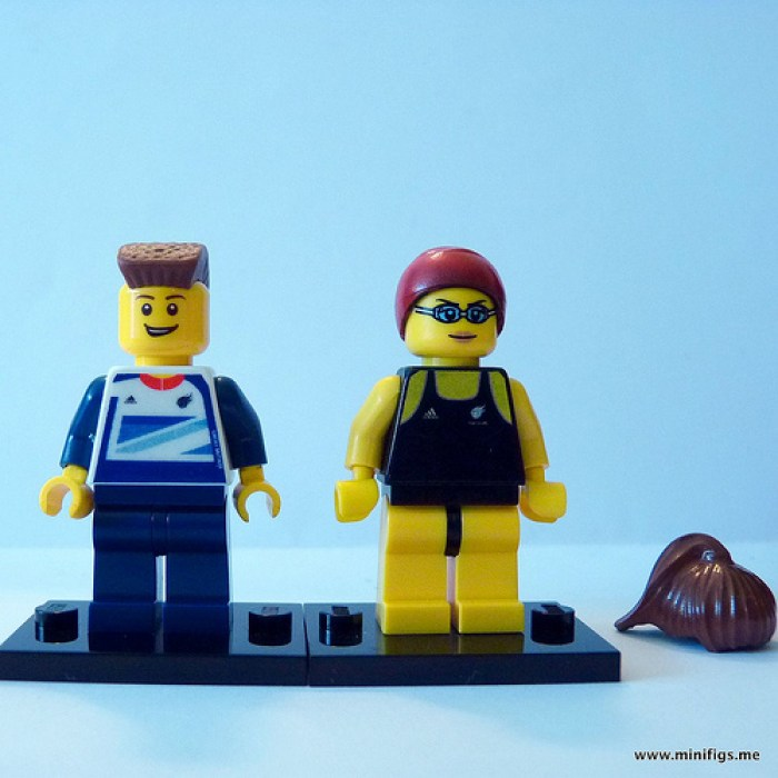 Rik Waddon - Paralympic GB cyclist and other Olympic and paralympic lego figures